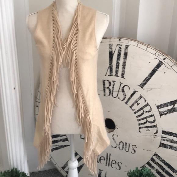 Minnie Rose Jackets & Blazers - 100% cashmere Minnie Rose fringed vest